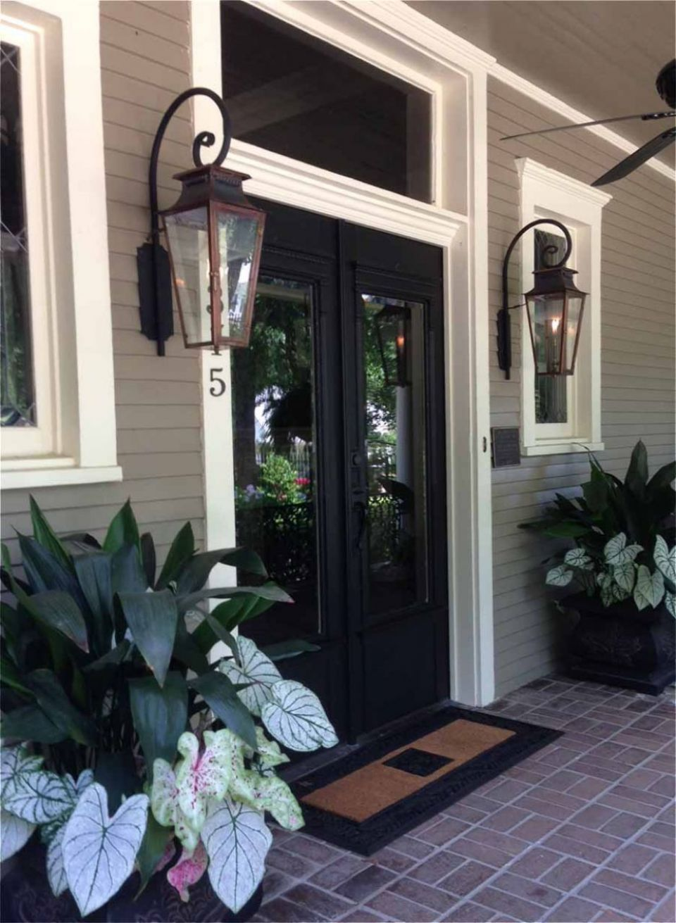 Italianate Gas Lights For Front Porch Home Decor