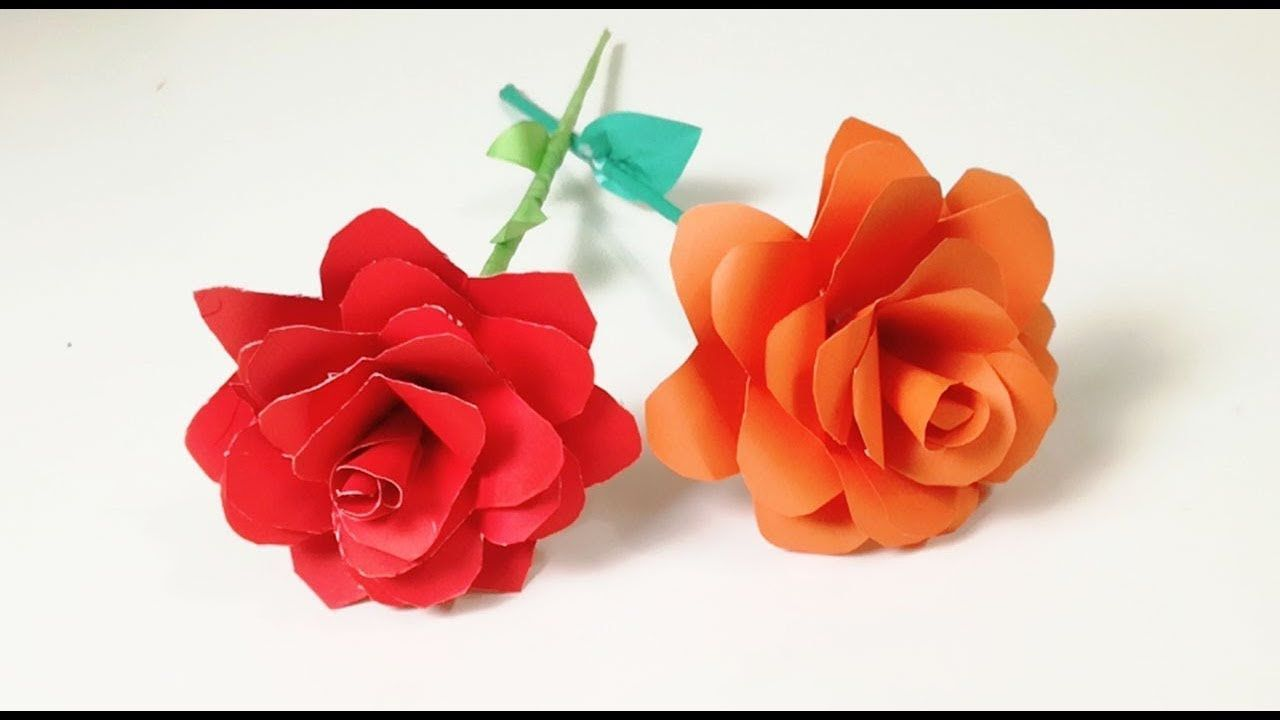 Diy Paper Roses How To Make A Paper Rose In The Easiest Way
