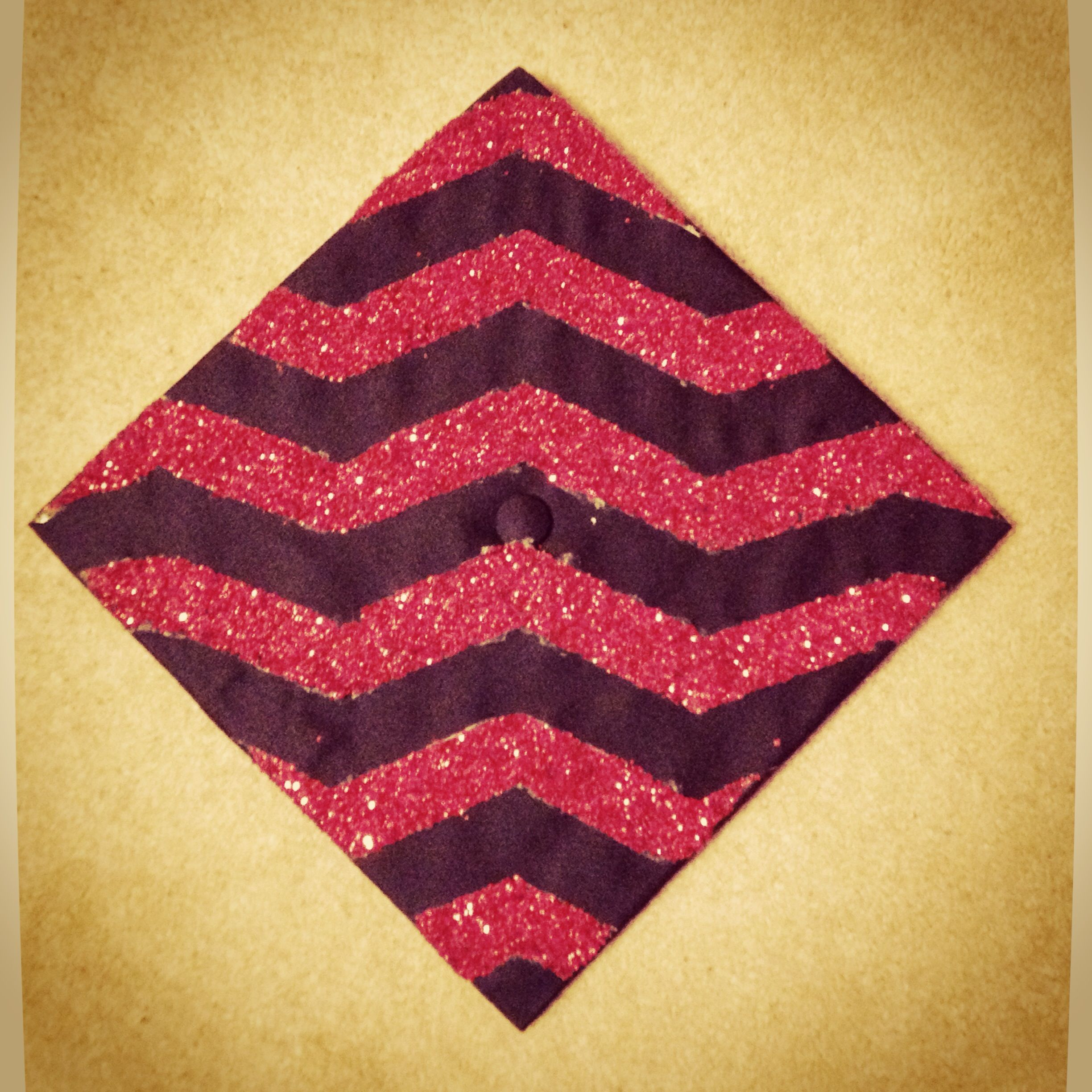 DIY glitter chevron graduation cap DIY & CRAFTS