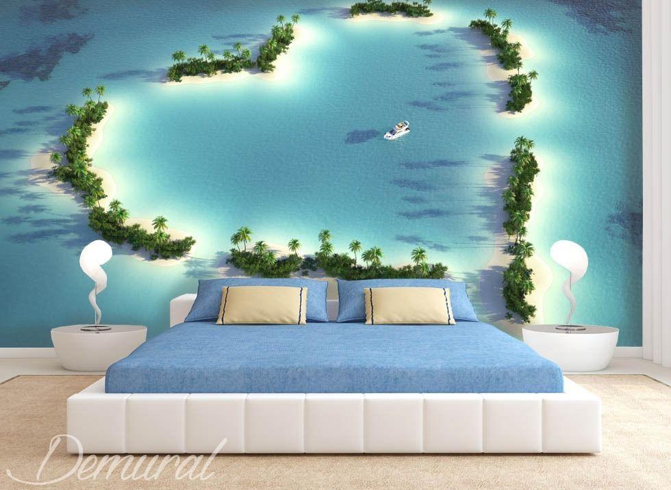 pelzstola vom atoll fototapete fur schlafzimmer fototapeten demural ...