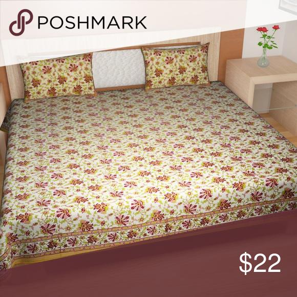 Multicolor 90 x 108 TRADITIONAL MAFIA RSES747019 Cotton Bed-sheet set