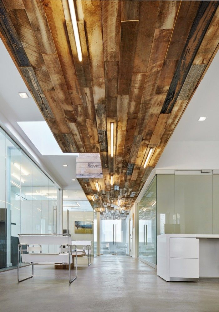 Office tour stripes group offices new york city water for Reclaimed wood new york