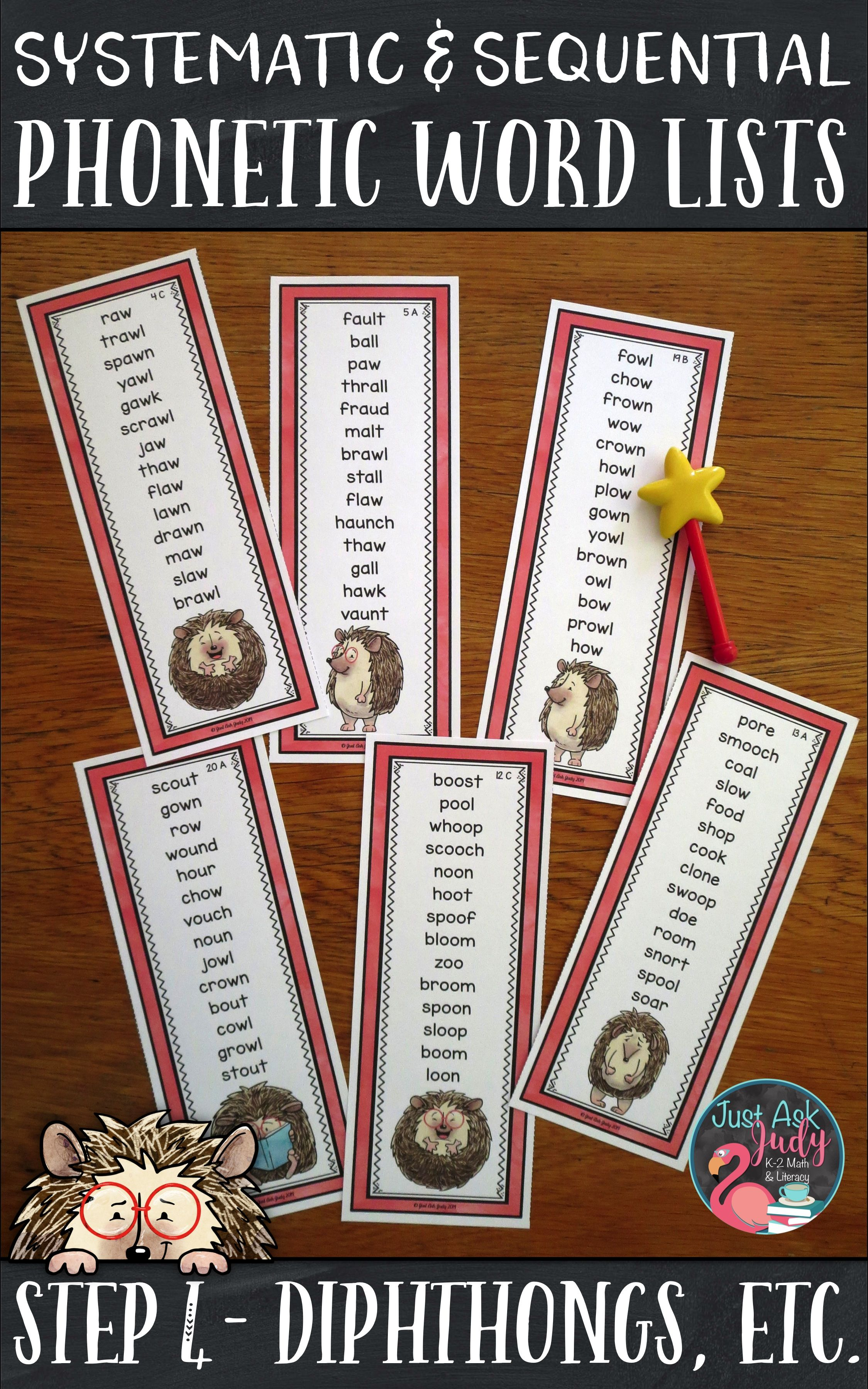 Phonics Word Lists With Diphthongs And Other Vowel Team