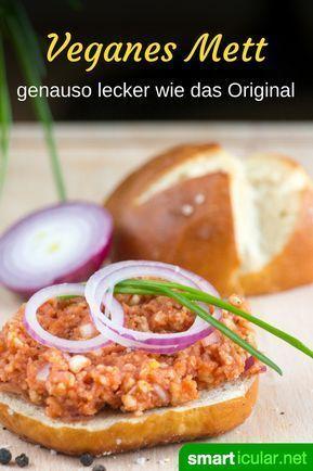 """Photo of """"Hackepeter"""" selber machen – ohne Fleisch, dafür mit Reiswaffeln"""
