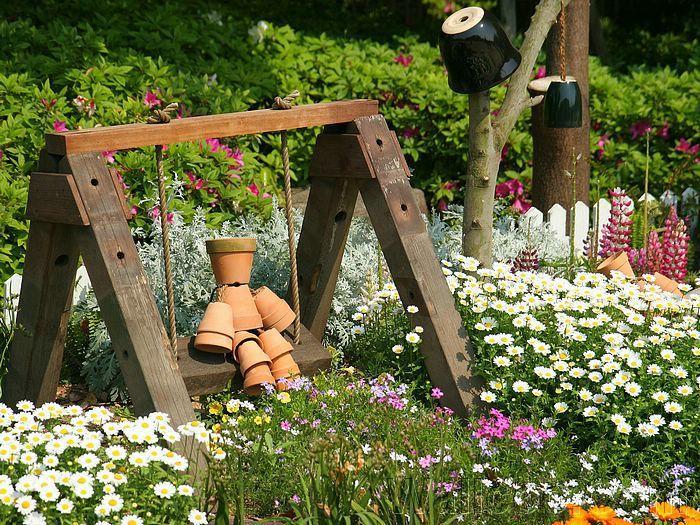 Coole Ideen Gartendeko Holz Und Blumentlpfen