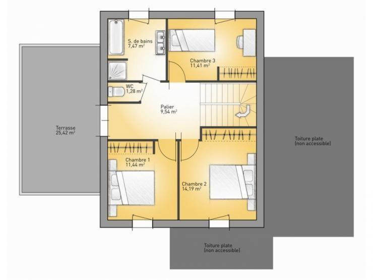 Plan de maison Concept 167  Vignette 2 Plans de maison - plan maison france confort