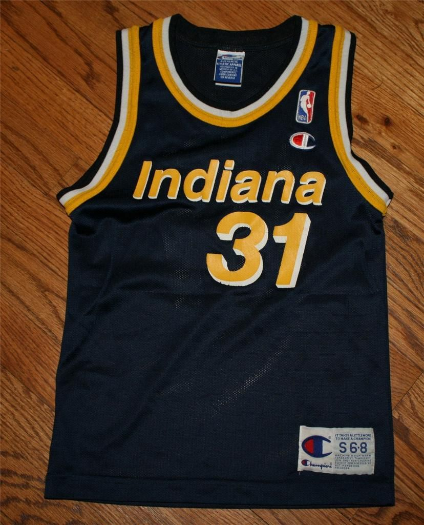 7004405c3 Vintage REGGIE MILLER  31 INDIANA PACERS NBA CHAMPION JERSEY-Youth Small  (6-8)