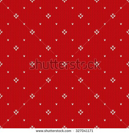 Winter Holiday Seamless Knitting Pattern. Christmas and New Year Vector Background