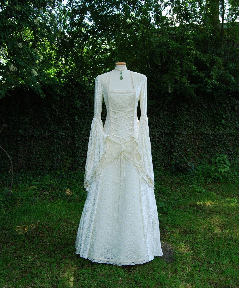 Fairytale Wedding Gown Medieval Dress Custom made to measure ...