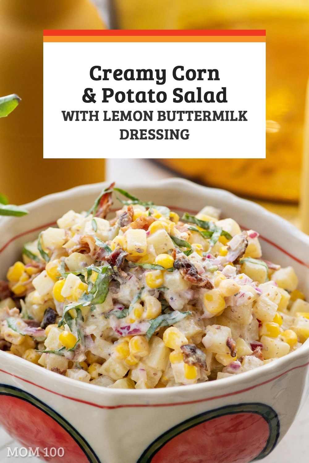 Creamy Corn And Potato Salad With Lemon Buttermilk Dressing The Creaminess Of The Potatoes Is Punctuated By Th Homemade Potato Salads Potato Salad Creamy Corn