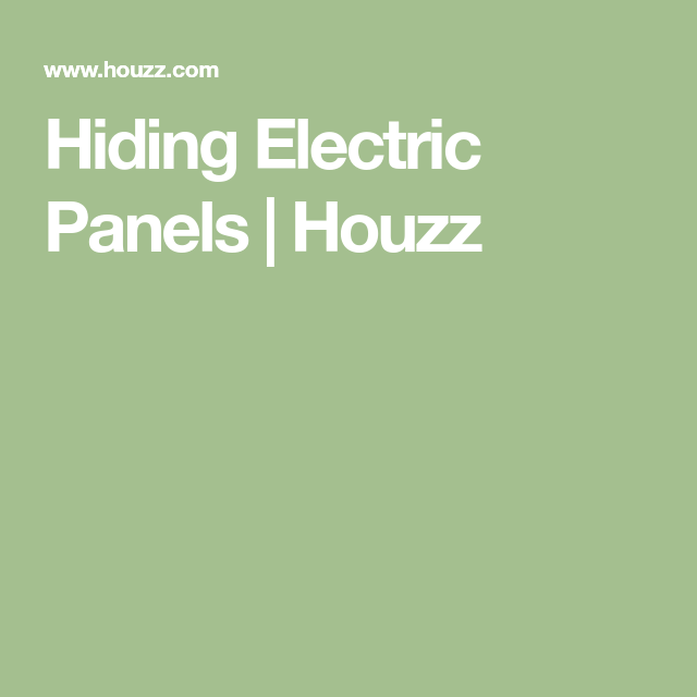 Hiding Electric Panels | Houzz