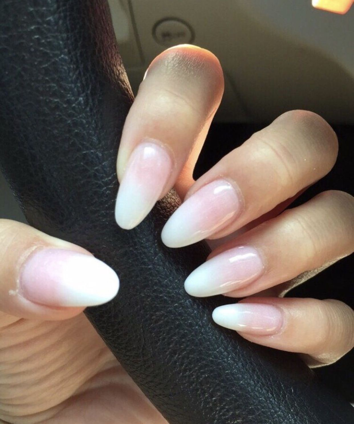 Pin By Steph On Nails Ombre Gel Nails Oval Nails Ambre Nails