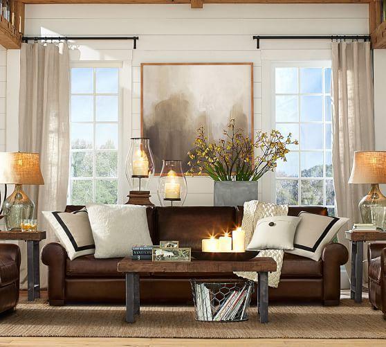 How To Visually Lighten Up Dark Leather Furniture Wohnzimmer