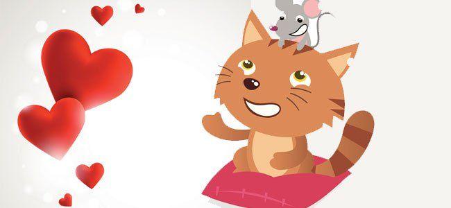 Un poema fantástico sobre amistad: la gatita y el ratón.