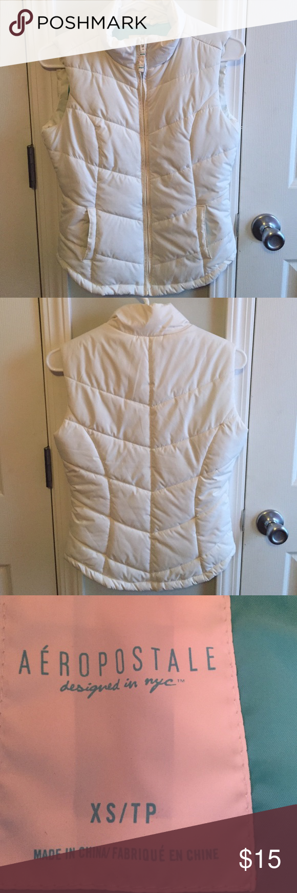 Aeropostale wire puff vest size XS Zip up front ,2side pockets,great condition. Aeropostale Jackets & Coats Puffers