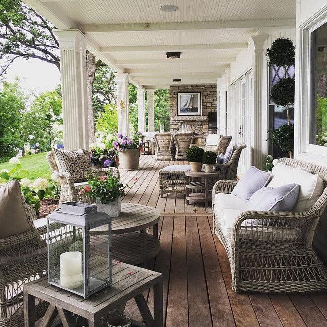 We D Like The Main Section Of The Front Porch From Foyer To Other Side Of Casual Dining To Be 10 Feet Deep We Don Outdoor Rooms Porch Design Outdoor Living