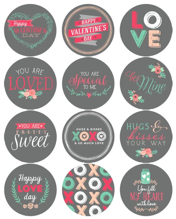Free Printable Valentines Day Label Stickers Cute Idea To