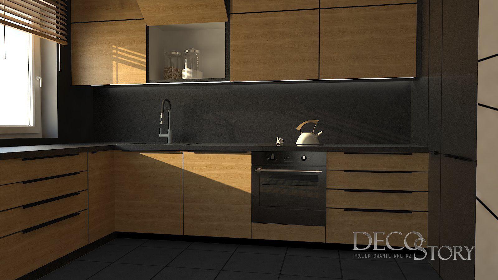 Kuchnia W Debie I Graficie Prosta Naturalna I Ponadczasowa Mieszanka Styli Minimalistyczna Kuchnia Debowa Nowoczes Wooden Kitchen Kitchen Kitchen Cabinets