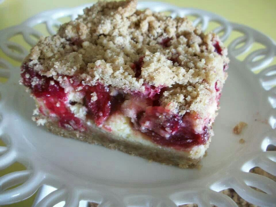 Cranberry cheesecake bars | Cookies | Pinterest
