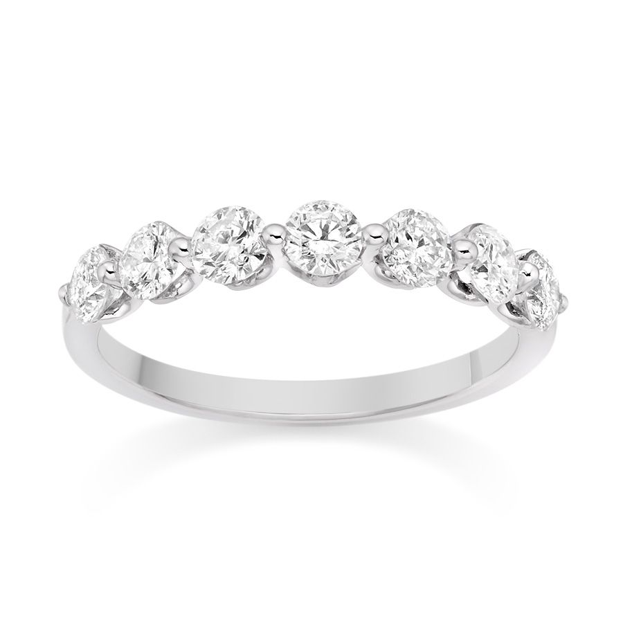 Floating Single Prong Diamond Ring In Platinum