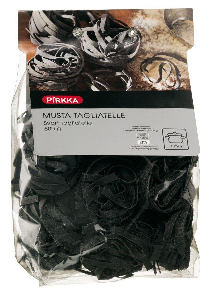 Pirkka musta tagliatelle 500 g | K-ruoka #halloween #pasta