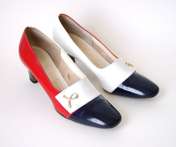 Love these red, white, and blue Naturalizer heels by sadiebess