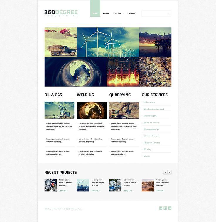 Industrial Agency #Wix Website Template #46262