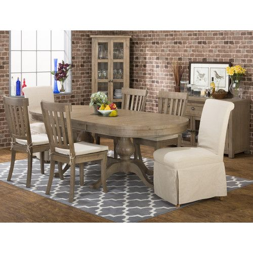 Shop For The Jofran Slater Mill Pine Double Pedestal Table At Johnny Janosik
