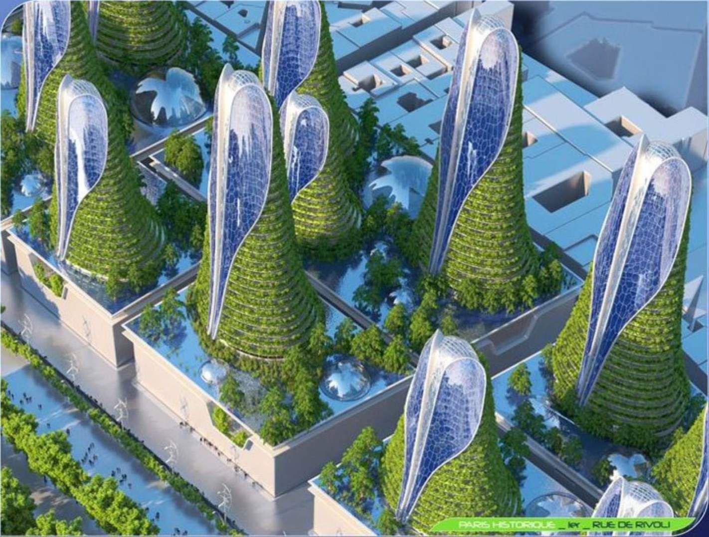 Paris Smart City 2050 By Vincent Callebaut Architectures