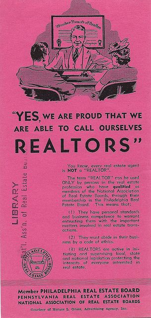 Proud to be a REALTOR®. 1941 brochure from the Archives of the National Association of REALTORS®.