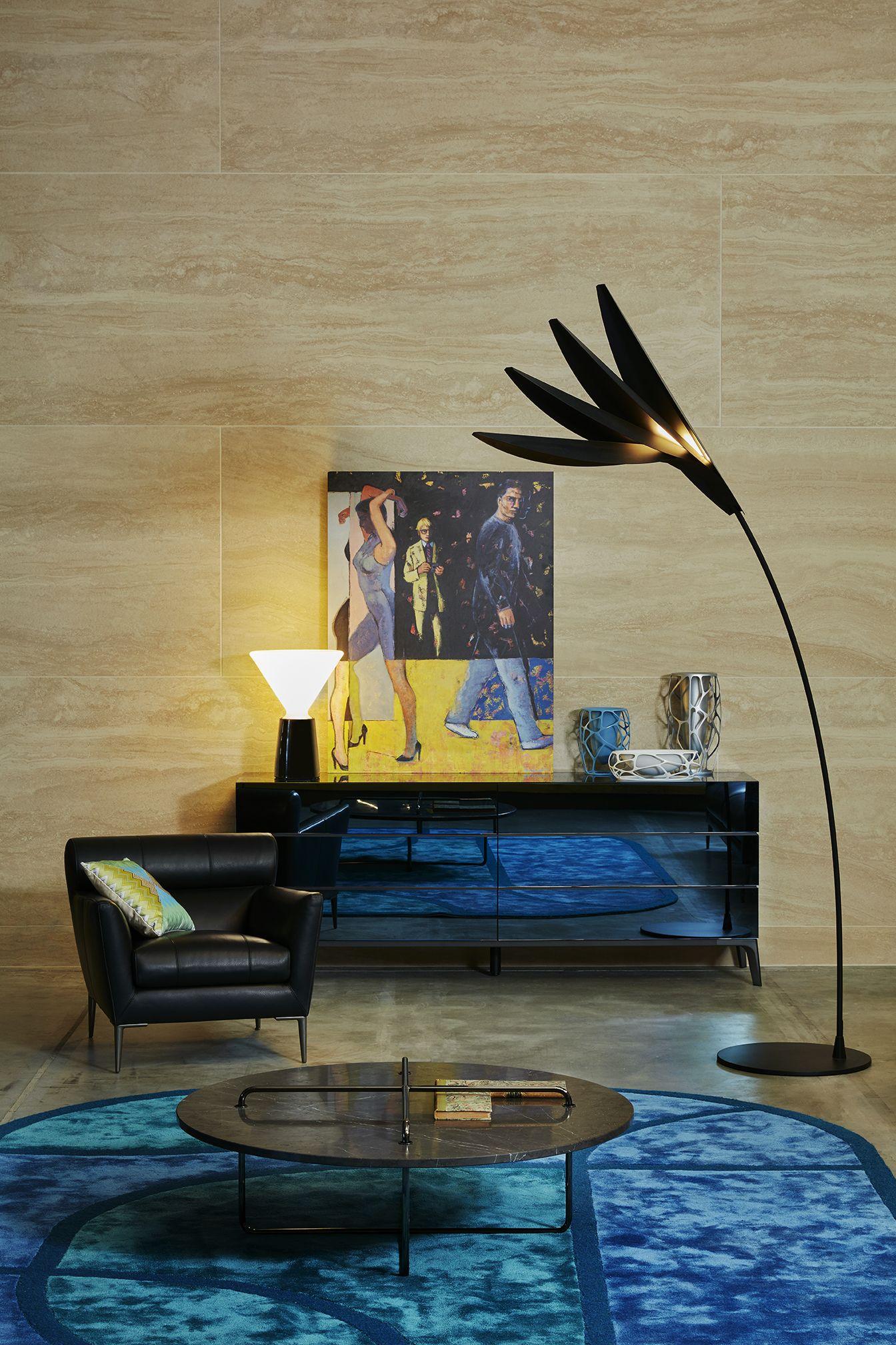 Roche Bobois Virgule Armchair Designed By Giorgio Soressi And Globo Sideboard Press Day January 2017 Armchair Design Wood Veneer Roche