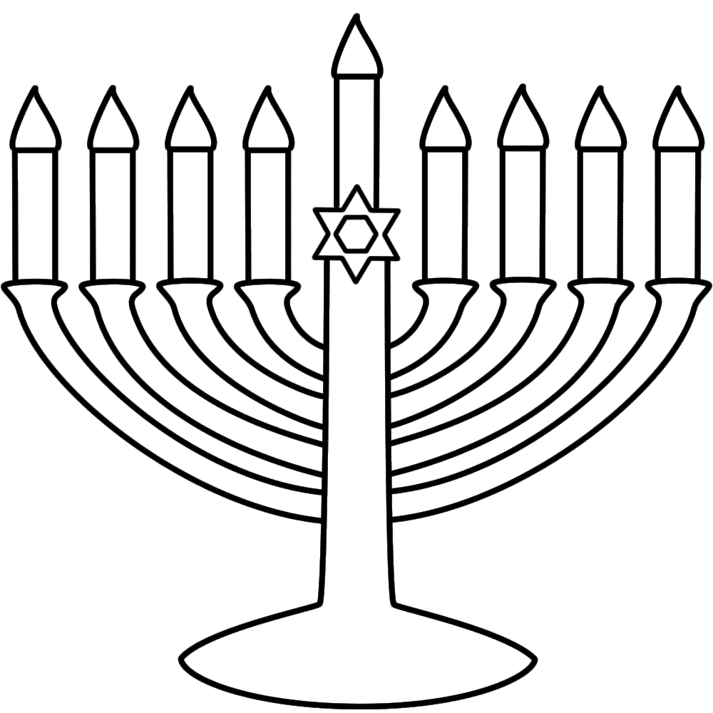 menorah coloring page hannukah winter with kids pinterest