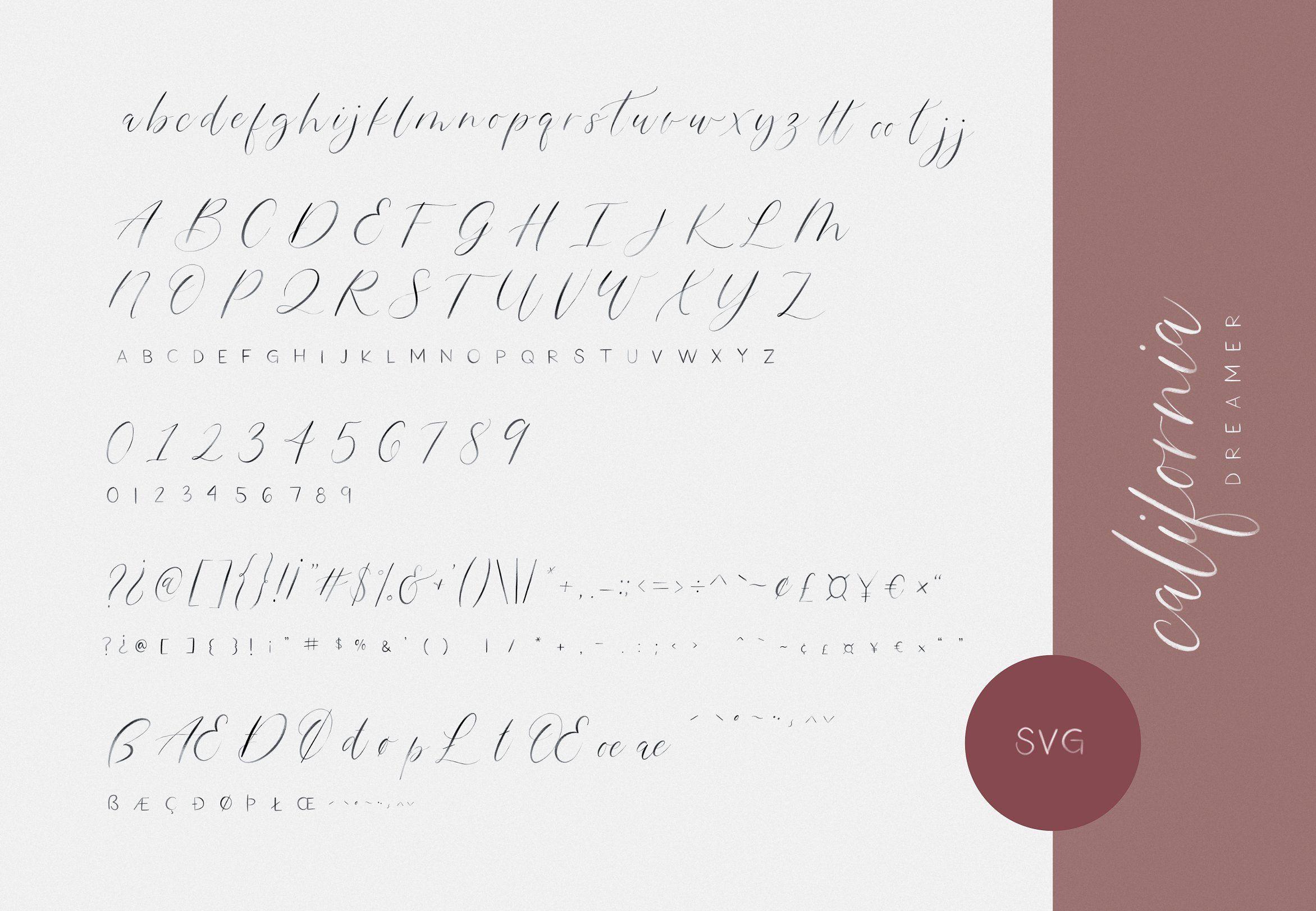 California Dreamer Font Duo SVG edgesmaintainrough