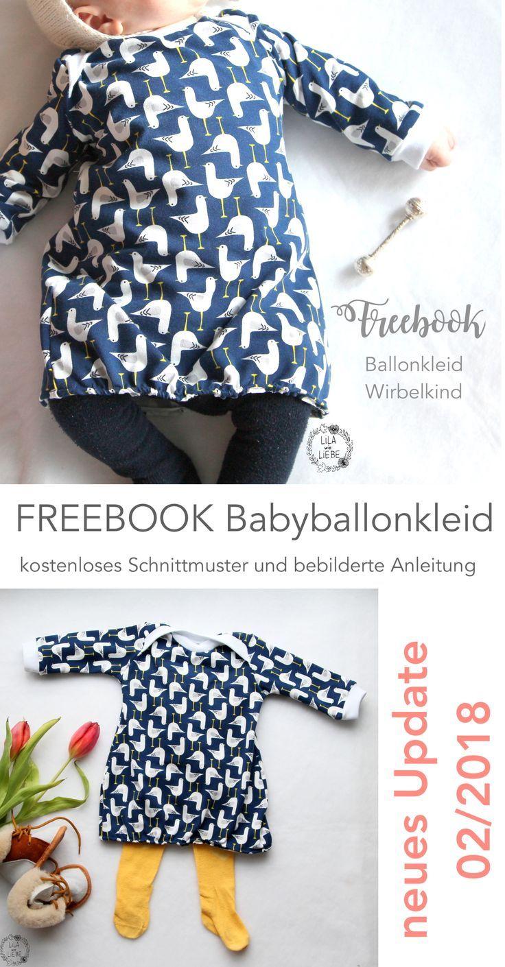 Babyballonkleid nähen - Freebook Wirbelkind - Lila wie Liebe