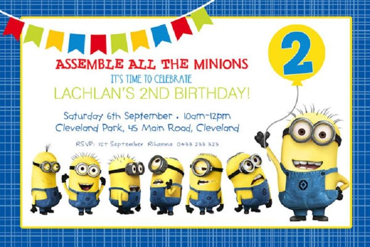 Minion Birthday Invitations Templates Free Invitation Ideas