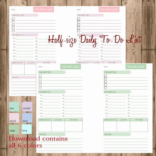 Planner Pages, Custom Planner