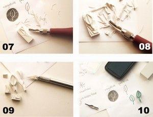 Tutorial para hacer sellos con gomas   Ishtar Olivera