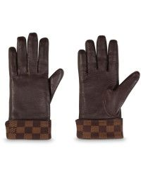 33604b327170 Louis Vuitton Damier Ebène Gloves brown - Lyst