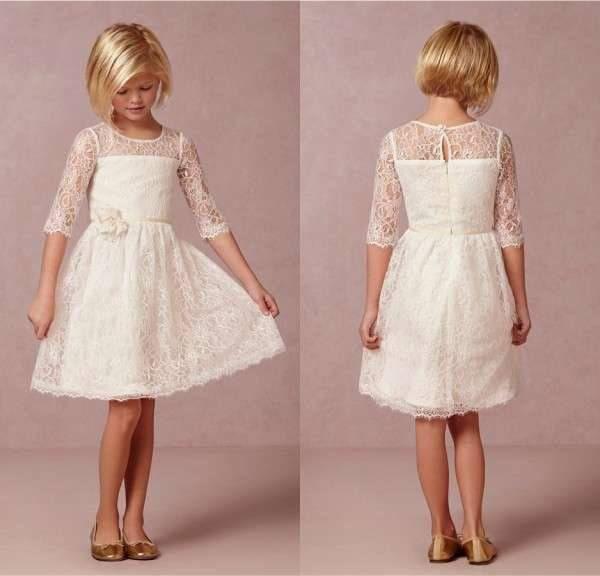 Vestidos de comunion cortos simples