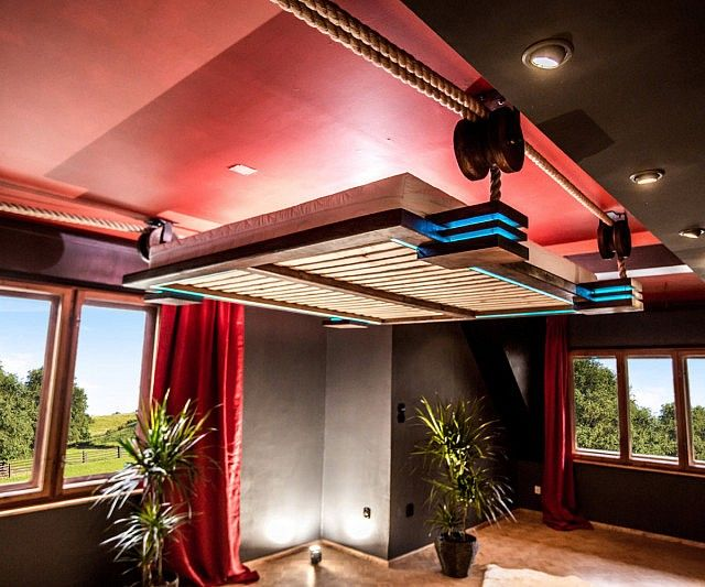 Retractable Hanging Bed Suspended Bed Hanging Beds Ceiling Bed