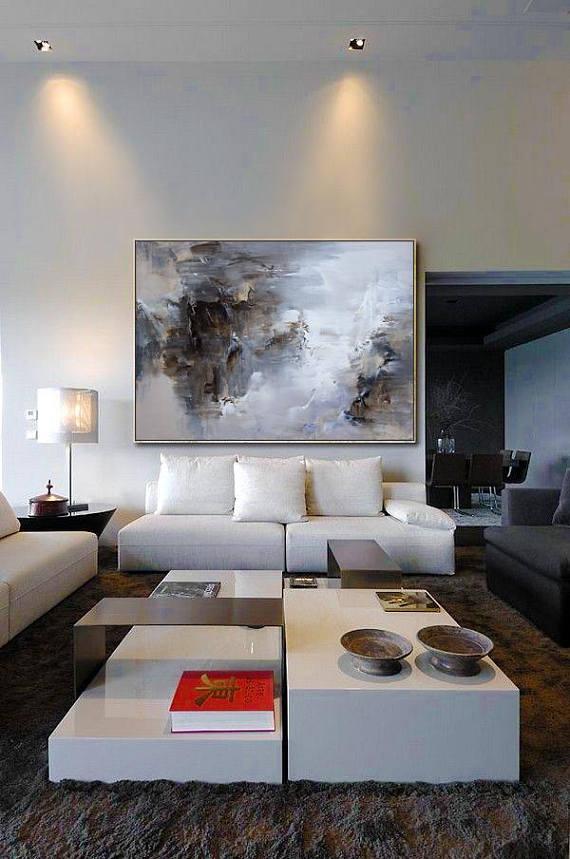 Extra große Wand-Kunst, abstrakte Malerei, zeitgenössische Kunst, schwarz weiße Leinwand Kunst, große Leinwand Kunst, Gemälde auf Leinwand, Landschaftsmalerei