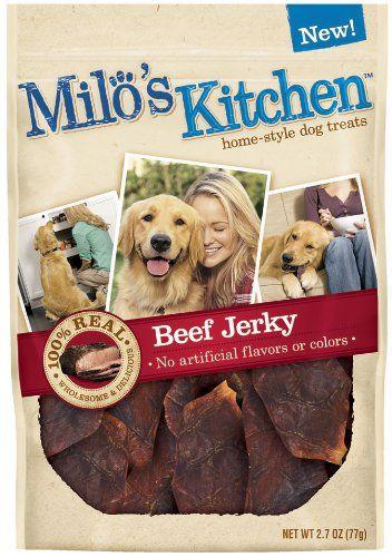 Milo S Kitchen Dog Treats Beef Jerky 2 7 Ounce Pack Of 4