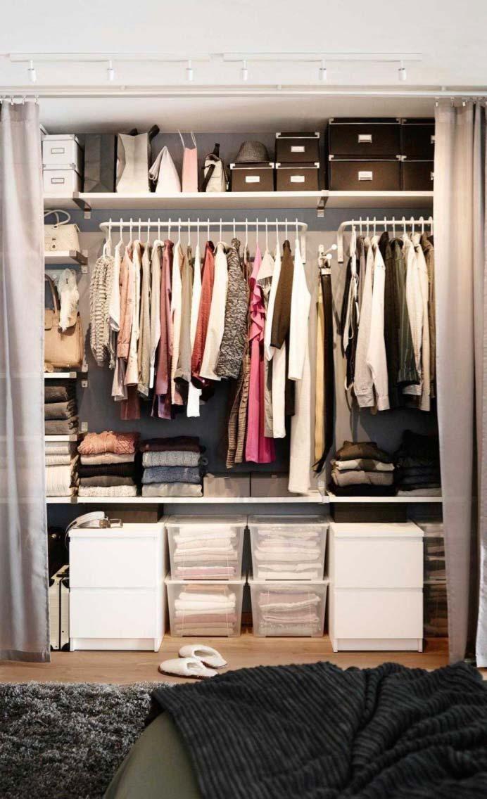 Gunstige Schrank Treffen Sie 10 Tipps Und 60 Kreative Ideen Zum Dekorieren Kleine Raume Dekorieren Vorhang Schrank Und Schlafzimmer Schrank