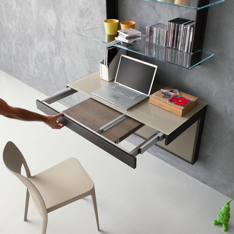 Kosmos Konsole Schreibtisch An Die Wand Montiert Auch Ausziehbar Diotti Com Design Schreibtisch Schreibtisch Schubladen Design