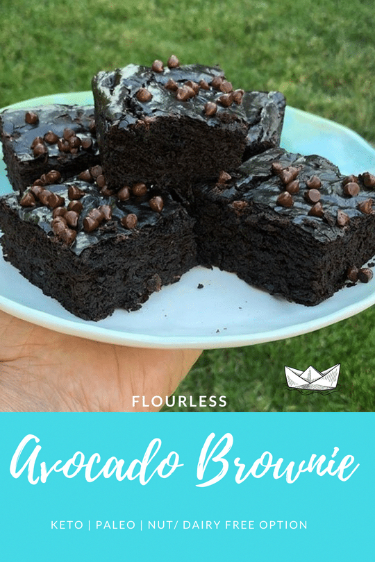 Flourless Avocado Brownies! These fudgey and cakey brownies are made with healthy ingredients! - -