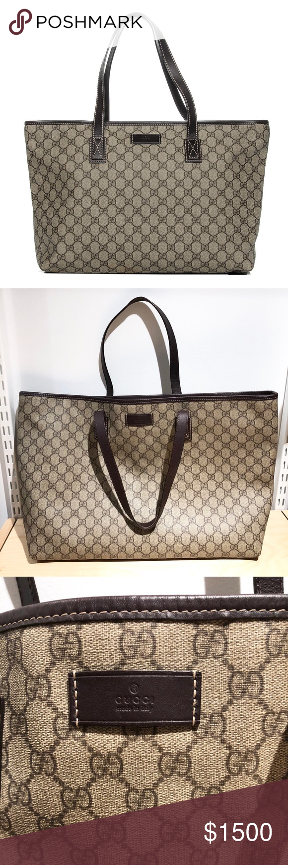 9bd8d7596999 Authentic Gucci Gg Supreme Canvas Large Tote Bag This is authentic like new  condition Gucci Gg