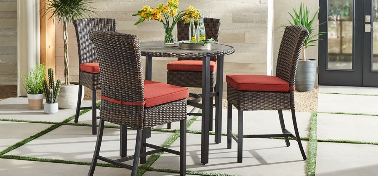 Patio Furniture The Home Depot In 2020 Patio Dining Furniture Patio Furniture For Sale Clearance Patio Furniture