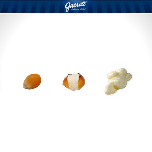 It All Starts With A Fresh Pop From Our Signature Kernel Garrett Popcorn Handcraft Snacks