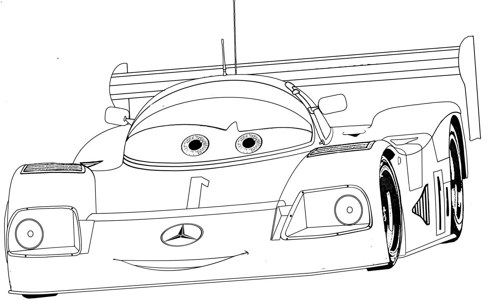 sauber mercedes benz c9 coloring page