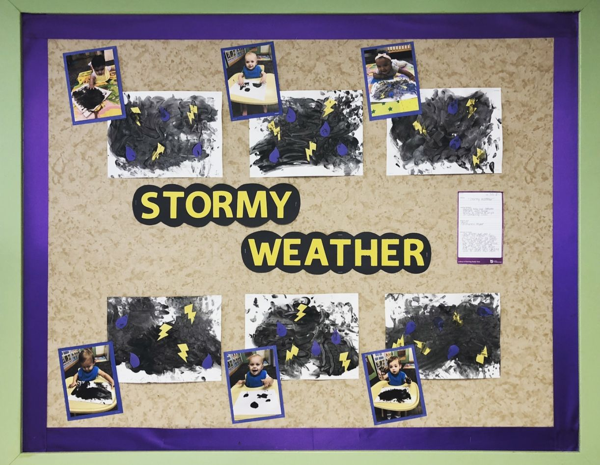 Stormy Weather Bulletin Board Infant Classroom What S